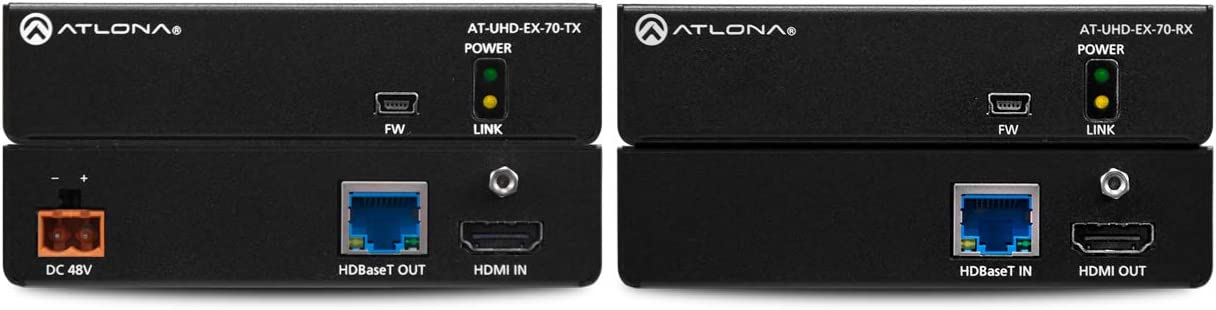 Atlona Technologies 4K HDR HDMI Over HDBaseT TX//RX Kit Audio Video Converter