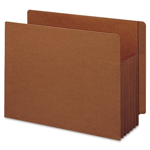 End Tab File Pockets, 5-1/4 Exp, 10/BX, Legal, Red, Sold as 1 Box by Smead