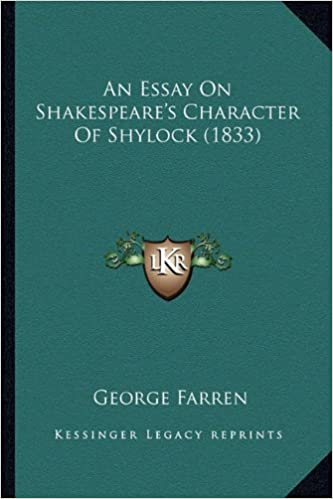 An Essay On Shakespeares Character Of Shylock  George Farren  An Essay On Shakespeares Character Of Shylock  George Farren   Amazoncom Books Managerial Accounting Assignment Help also Essay On Healthy Foods  Health And Fitness Essays