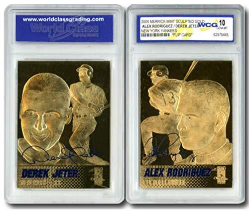Derek Jeter/Alex Rodriguez NY Yankees 2-Sided 23K Gold Card - GEM Mint