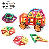 Quadpro Magnetic Building-Blocks 48 Pieces+2 Pieces car wheels
