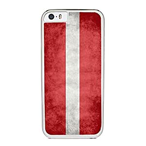 Flag of Latvia, Latvian - Case for iPhone 6 Plus, White Silicone Rubber Cover in DDJK Case