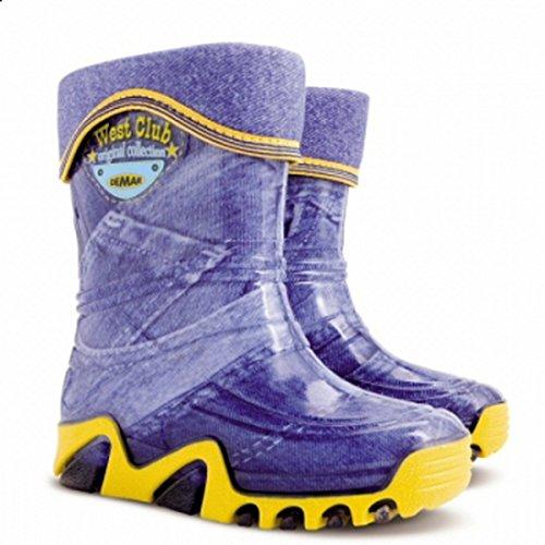 Kinder Jungen Mädchen Gummistiefel Gummistiefel RAINY Snow Warm Liner Socke Jeans