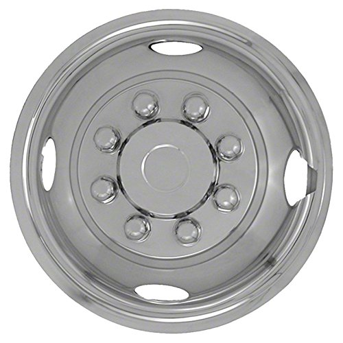 Single Front 16'' Polished Stainless Steel Wheel Simulators (Push-on)