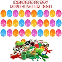 """Set of 12 Fun Surprise Toys for Kids ArtCreativity 3/"""" Plastic Prefilled Easter Eggs with Stickers Inside Egg Hunt Supplies//Party Favors Toys for Boys and Girls 