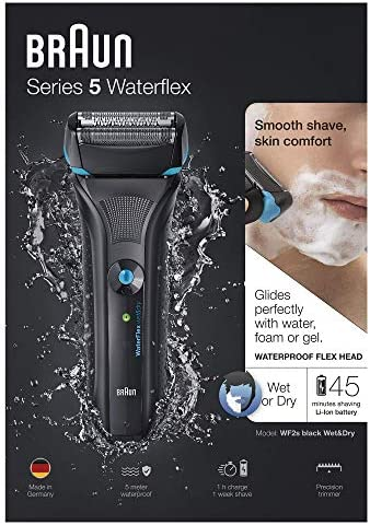 Braun Waterflex Afeitadora Recargable, Color Negro - 800 gr ...