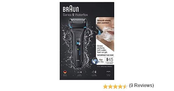 Braun Waterflex Afeitadora Recargable, Color Negro - 800 gr ...