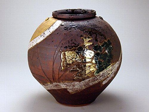 【九谷焼】 10号花瓶 金銀箔秋月文 B0765NXPSF