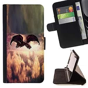 For Samsung Galaxy J1 J100 Case , Pintura Indie Rock Pluma Dios- la tarjeta de Crédito Slots PU Funda de cuero Monedero caso cubierta de piel