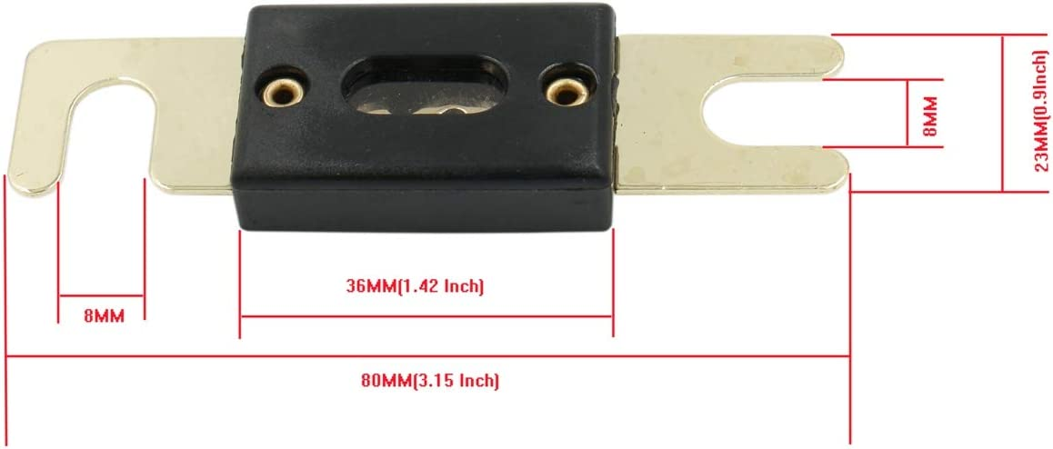 Baomain ANL-150A Electrical Protection ANL Fuse 150 Amp with fuse holder 1 Pack
