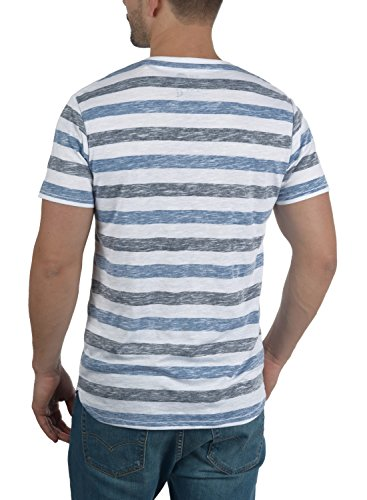 Tet Para Manga Cuello Redondo De Con Strong Corta Básica Rayas 1531 Blue Camiseta solid Hombre 0gqwXPvddp