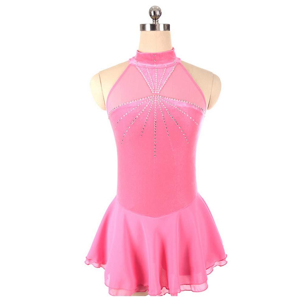 フィギュアスケート女の子のためのドレス女性スケート競争のパフォーマンスのコスチュームダンスコスチュームドレスプロフェッショナルストレッチ通気性 XXXS Pink B07M9JJKD4 XXXS Pink XXXS Pink Pink XXXS, カスタムワークウェア:a6cf8c66 --- bulkcollection.top