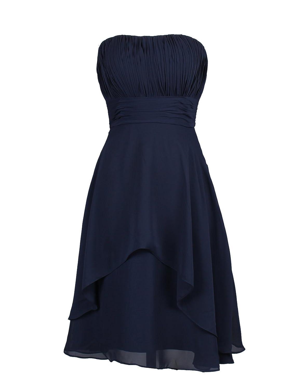 Dressystar Damen Kurz Chiffon Cocktailkleid Bandeau Kleid ...