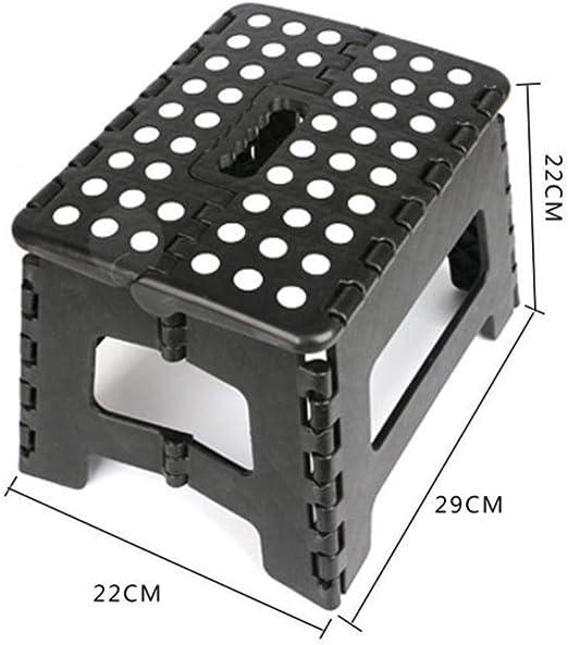 MOLUO Taburete Taburete Plegable Escalera Plegable portátil de plástico al Aire Libre Banco pequeño de Carga súper Gruesa y Duradera para baño @ C: Amazon.es: Hogar