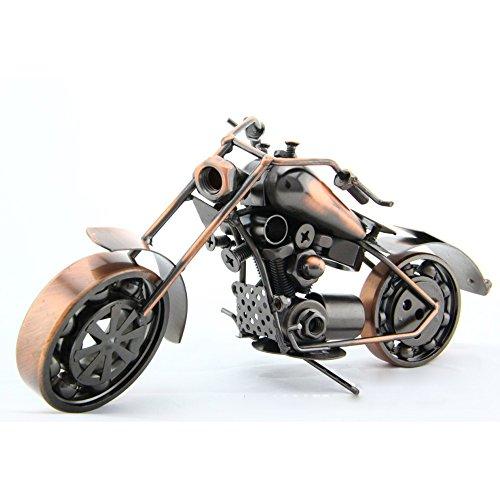 メタルモデルバイク オートバイモデル ブリキ ミニチュア レトロ ミニカー (ブロンズ  26x10x13cm)の商品画像