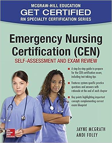 Emergency nursing certification cen self assessment and exam emergency nursing certification cen self assessment and exam review 1st edition kindle edition fandeluxe Images