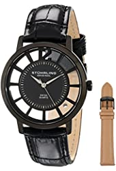Stuhrling Original Men's 388S.33551 Winchester Swiss Quartz Transparent Watch with Additional Strap