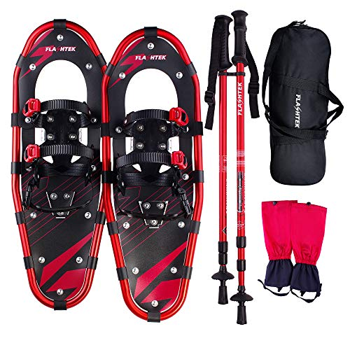 FLASHTEK Snowshoes for Men and Women, Light Weight Aluminum Terrain Snowshoes