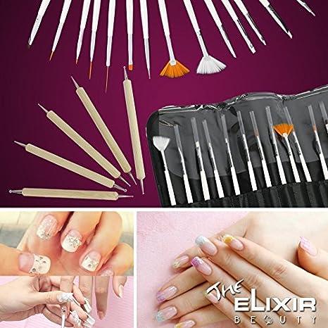 Buy Nail Art Kit With Free Nail Stamp Plate Kit 20 Nail Art Brush