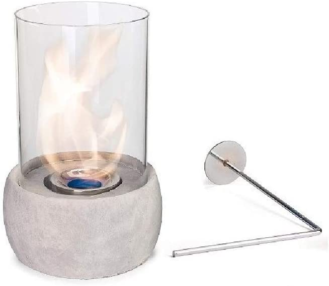 Ellie Glasfeuer Tischkamin Feuerstelle Kamin Tischfeuer Bio Ethanol