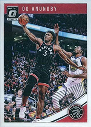 7ab46e7685194 Amazon.com: 2018-19 Donruss Optic #23 OG Anunoby Toronto Raptors ...