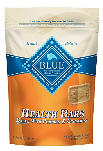 Blue Pumpkin and Cinnamon Health Bars for Dogs, 16 oz (12 Pack) by Blue Buffalo