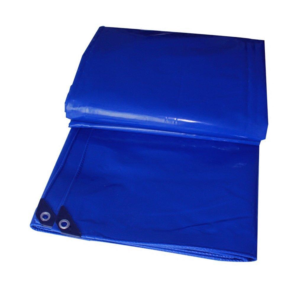 Regenschutz Wasserdicht Regenfeste Plane, staubdichtes windfestes abnutzungsBesteändiges Antioxidans der LKW-Plane Sonnenschutz im Freien im Freien, Blau (Farbe   A, größe   3x4M)