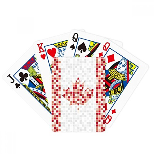 - DIYthinker Canada National Flag Maple Leaf Mosaic Poker Playing Cards Tabletop Game Gift