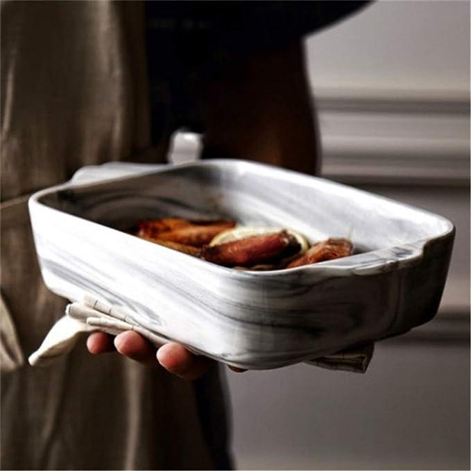 Platos de cerámica para hornear Mango clásico de doble oreja Plato ...