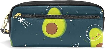 Estuche para lápices con compartimento para lápices y bolígrafos, diseño de aguacate: Amazon.es: Oficina y papelería