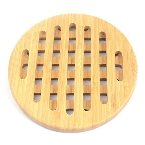 Amazon.com: Titular eDealMax redondas de bambú del ...