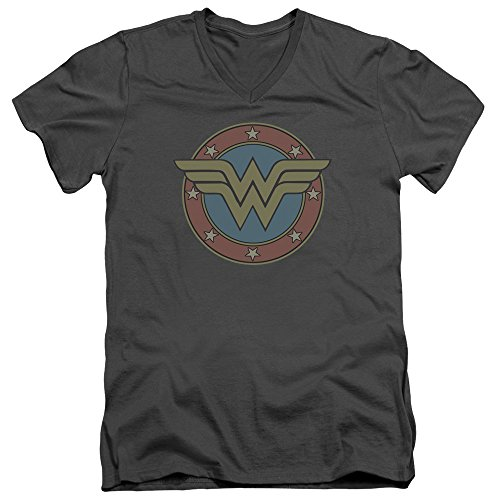 Wonder+Woman+Shirts Products : DC Comics Wonder Woman Vintage Emblem Mens V-Neck Shirt