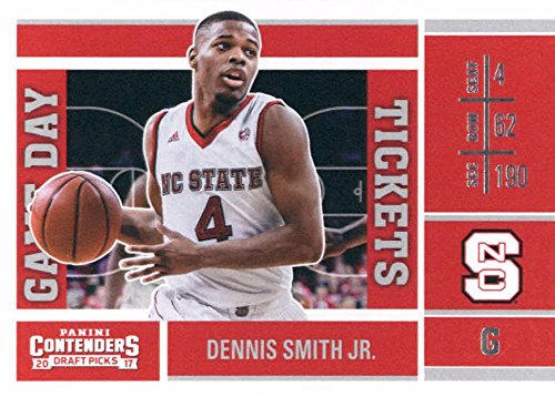 Nc Ticket (2017-18 Panini Contenders Drafts Picks Game Day Tickets #8 Dennis Smith Jr. NC State Wolfpack Basketball Rookie Card)