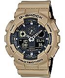 Men's Casio G-Shock Anti-Magnetic Khaki and Black Resin Watch GA100L-8A