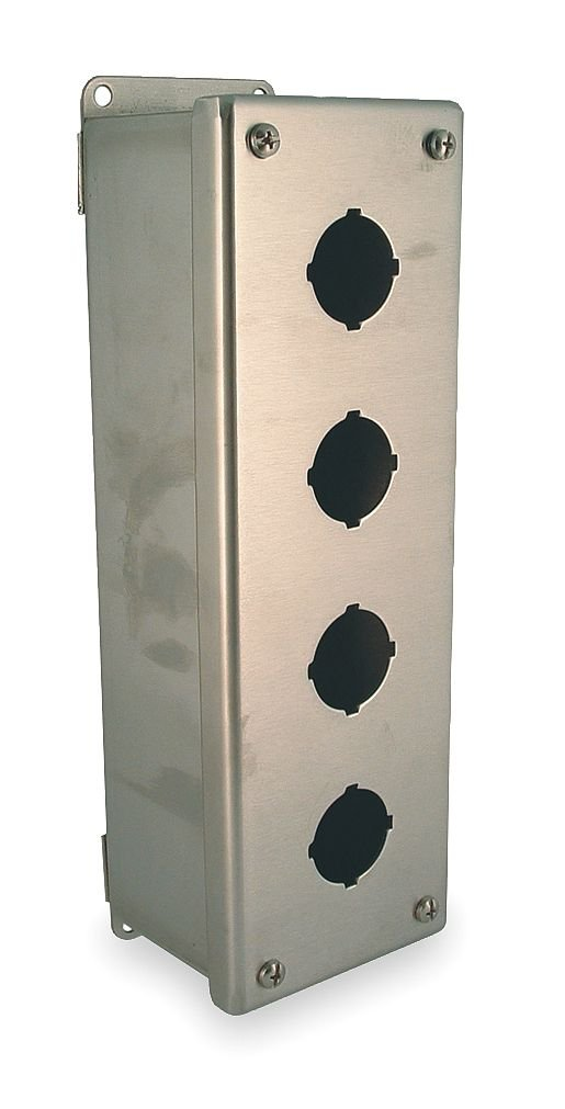 Hubbell - PBSS04 - Pushbutton Enclosure, 4, 4X, 12, 13 NEMA Rating, Number of Columns: 1