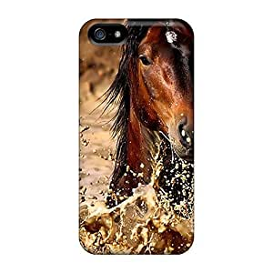 TYH - For AHhOcVf5830aKEWR Brown Horse In Water Protective Case Cover Skin/iphone 5/5s Case Cover phone case