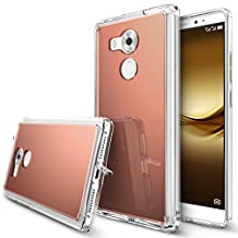 Huawei Mate 8 Case, Ringke [FUSION MIRROR] Bright Reflection Radiant Luxury Mirror Bumper [Drop Protection/Shock Absorption Technology][Attached Dust Cap] For Huawei Mate 8 - Rose Gold