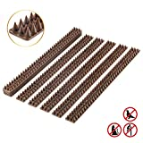 Bird Spikes - Set of 10 x 48.8 Cm Anti-climbing Security for Your Fence, Walls & Railings to Prevent Human Intruders, Animals or Birds – For a Safe and Secured Perimeter – No Tools Needed (Brown)
