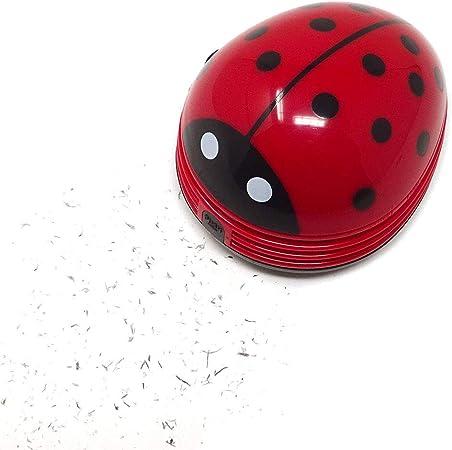Sarplle Mini aspiradora Ladybug Aspirador inalámbrico con Teclado Aspirador eléctrico de Mesa Aspirador de Mesa para Migas y Polvo: Amazon.es: Hogar
