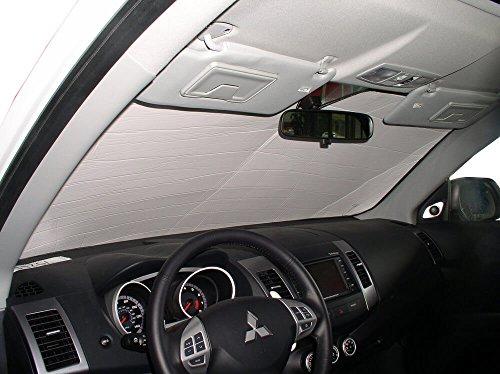The Original Windshield Sun Shade, Custom-Fit for Mitsubishi Outlander SUV 2007, 2008, 2009, 2010, 2011, 2012, 2013, Silver Series