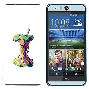 EJOOY---Cubierta de la caja de protección para la piel dura ** HTC Desire Eye M910x ** --Polígono Arte blanco profundo Significado