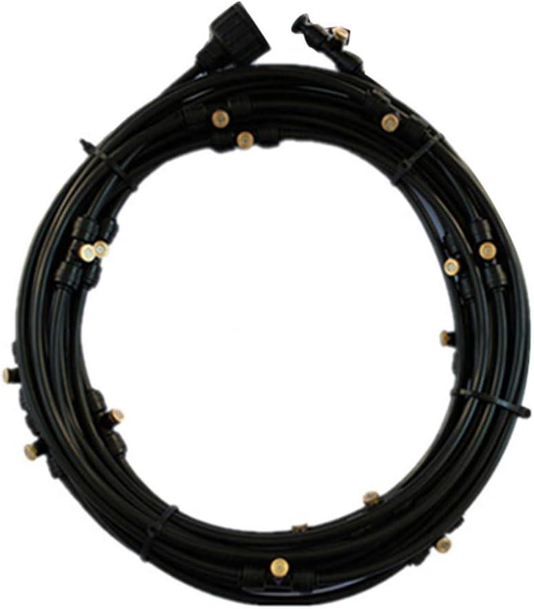 Negro CLIUS Fr/ío Patio Breeze de la Bruma Kit Ventilador Exterior Jard/ín Verano Enfriamiento Systerm para A Cualquier Exterior Ventilador Free Size