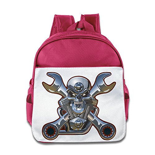 MoMo Unisex Metal Skull And Wrenches Children Backpacks Bags For Little (Mirage Buckle Belt)