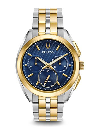 Bulova Men's 45mm CURV Collection Two-Tone Chronograph Watch -