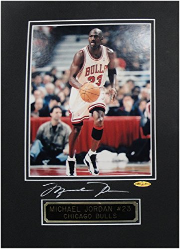 Michael Jordan Signed Autographed Matting with photo and nameplate UDA BAG64333