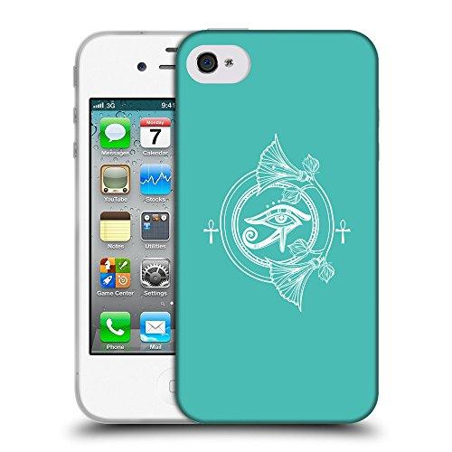 GoGoMobile Coque de Protection TPU Silicone Case pour // Q09870634 Religion 27 Turquoise // Apple iPhone 4 4S 4G