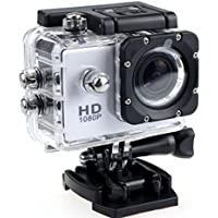 1080P Action Camera Full HD Sports Cam Waterproof up to 90 FT with 140 Degree Wide Angle Lens and 2.0 Inch LCD Display with Full Assortment of Accessories Included by Design By Morelli Legend White