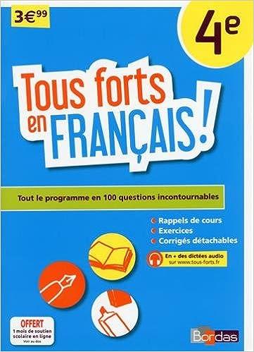 Téléchargement Tous forts en Français 4e pdf