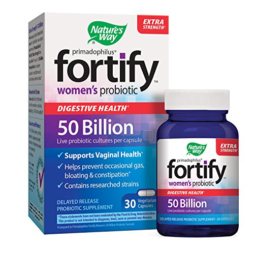 Cheap Nature's Way Primadophilus Fortify Women's Probiotic, Digestive  and Immune Health*, Extra Strength, 50 Billion Active Cultures, Guaranteed Potency, Delayed Release,Gluten-Free, 30 Vegetarian Capsules
