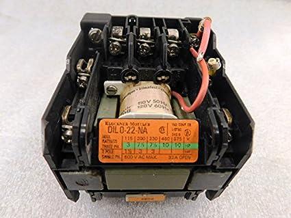 Klockner Moeller 600 VAC Contactor 115v Coil DIL 0-22-na